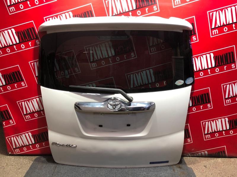 Дверь задняя багажника Toyota Ractis NCP100 1NZ FE 2005 белый перламутр