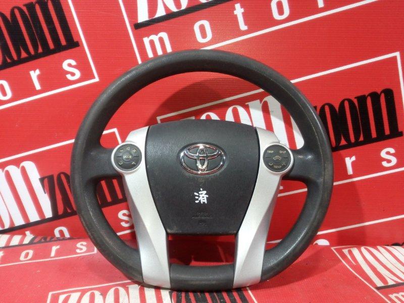 Руль Toyota Prius ZVW30 2ZR-FXE 2009 черный