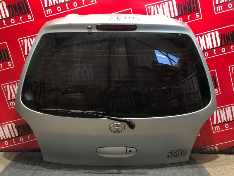 Дверь задняя багажника Toyota Corolla Spacio AE111 4A-FE 1997 серебро