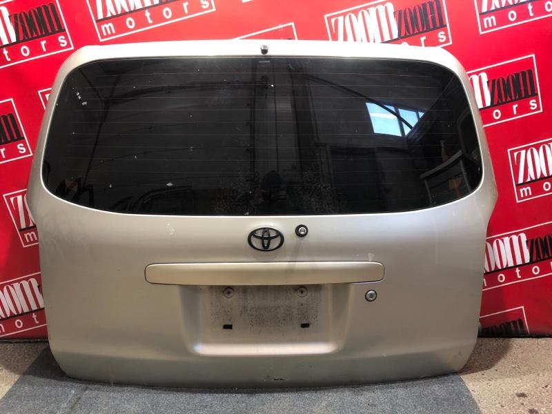 Дверь задняя багажника Toyota Probox NCP58G 1NZ-FE 2002 серебро