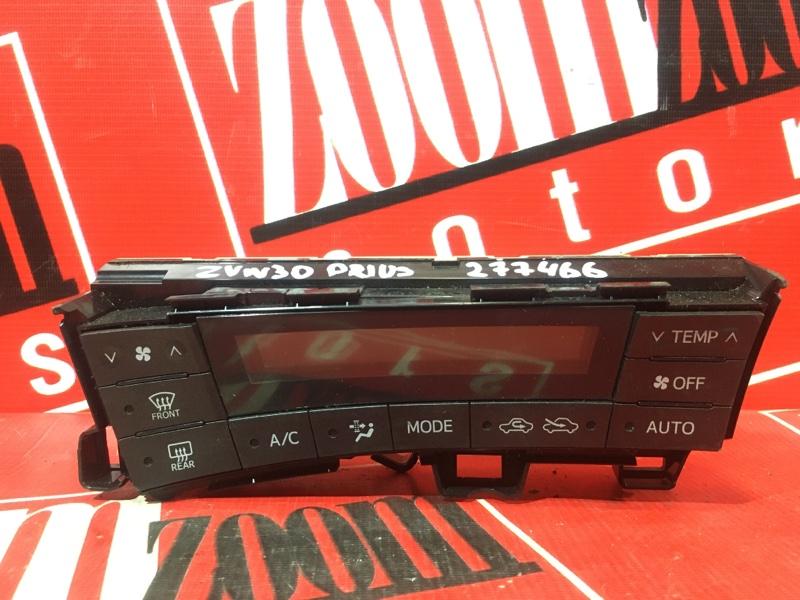 Блок управления отоплением и вентиляцией Toyota Prius ZVW30 2ZR-FXE 2009