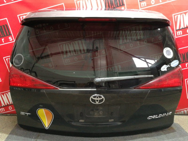 Дверь задняя багажника Toyota Caldina AZT241W 1AZ-FSE 2002 черный