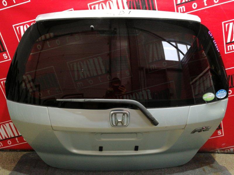 Дверь задняя багажника Honda Fit GD1 L13A 2004 серебро
