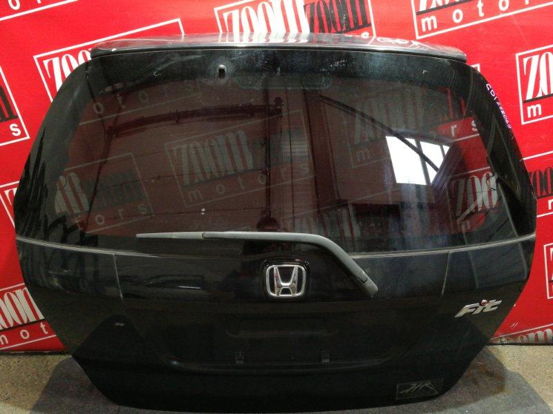 Дверь задняя багажника Honda Fit GD1 L13A 2004 черный