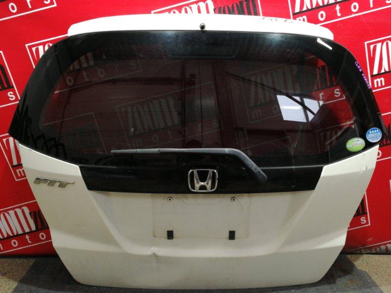 Дверь задняя багажника Honda Fit GE6 L13A 2007 белый перламутр