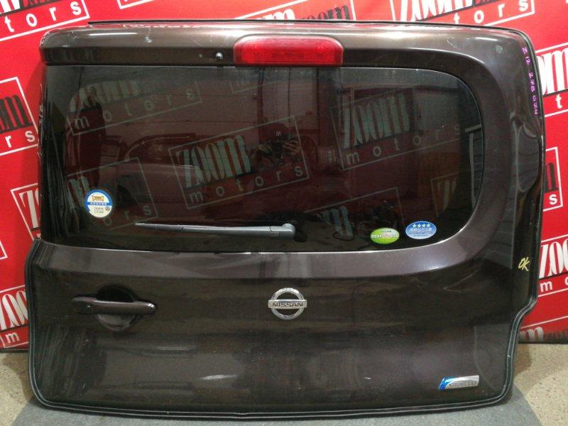 Дверь задняя багажника Nissan Cube Z12 HR15DE 2008 коричневый