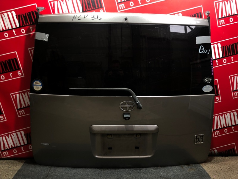 Дверь задняя багажника Toyota Bb NCP30 2NZ-FE 2000 серый