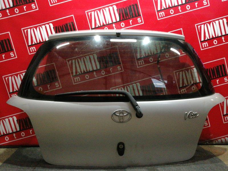 Дверь задняя багажника Toyota Vitz SCP10 1SZ-FE 1999 серебро