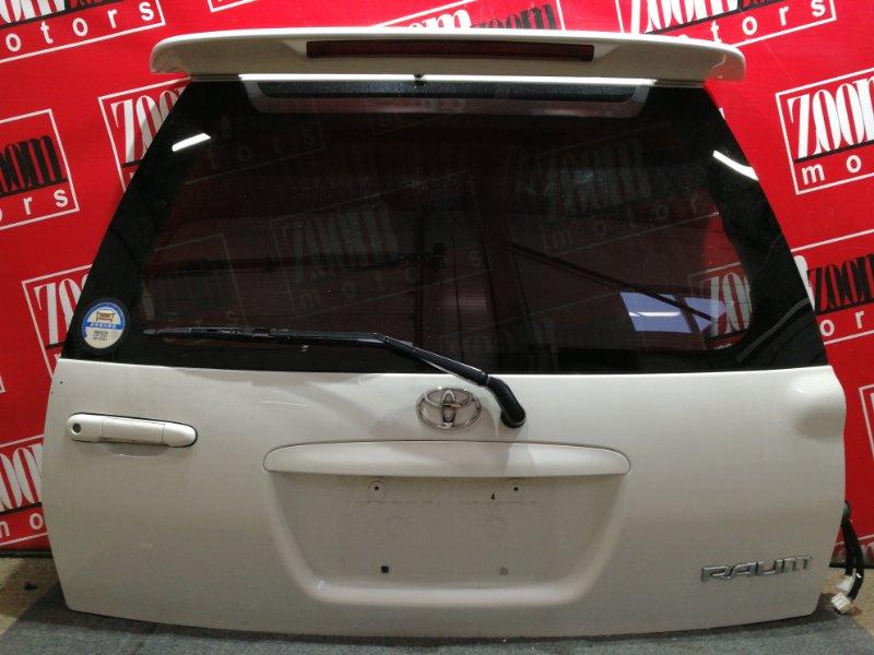 Дверь задняя багажника Toyota Raum EXZ10 5E-FE 1997 белый перламутр