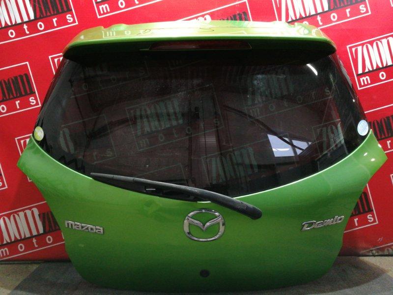 Дверь задняя багажника Mazda Demio DE3FS ZJ-VE 2007 зеленый
