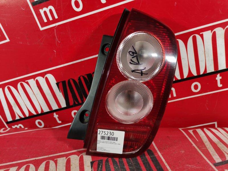 Фонарь (стоп-сигнал) Nissan March AK12 CR12DE 2002 задний правый 4953