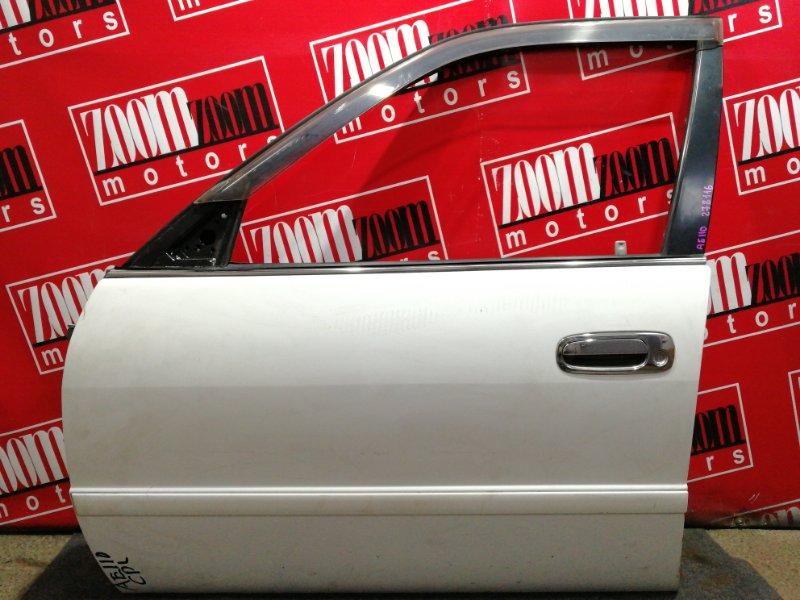 Дверь боковая Toyota Corolla AE110 5A-FE 1995 передняя левая белый