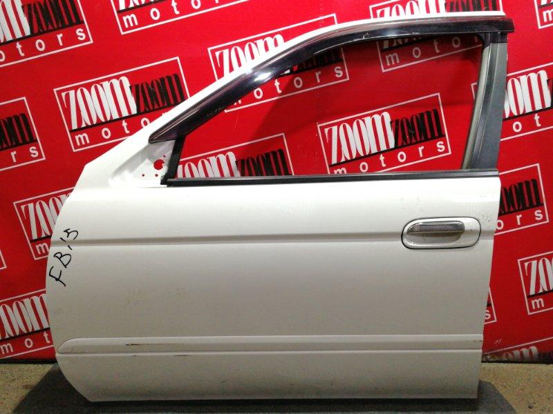 Дверь боковая Nissan Sunny FB15 QG15DE 1998 передняя левая белый