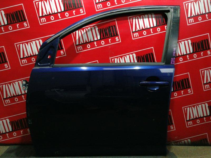 Дверь боковая Toyota Passo QNC10 K3-VE 2004 передняя левая синий