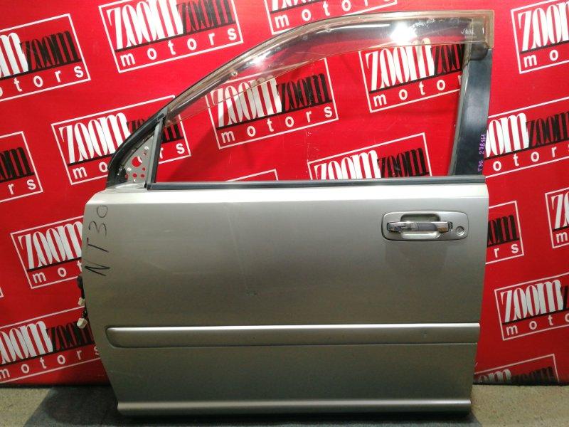 Дверь боковая Nissan X-Trail NT30 QR20DE 2000 передняя левая серый