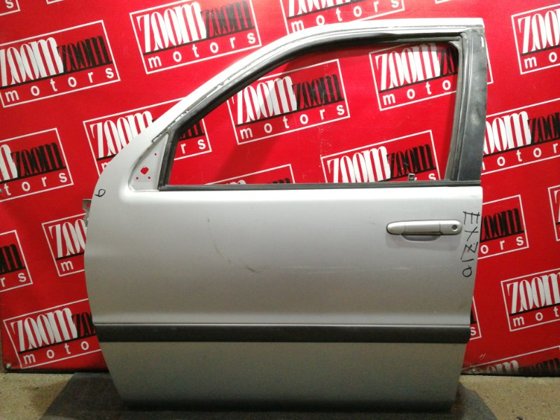 Дверь боковая Toyota Raum EXZ10 5E-FE 1997 передняя левая серебро