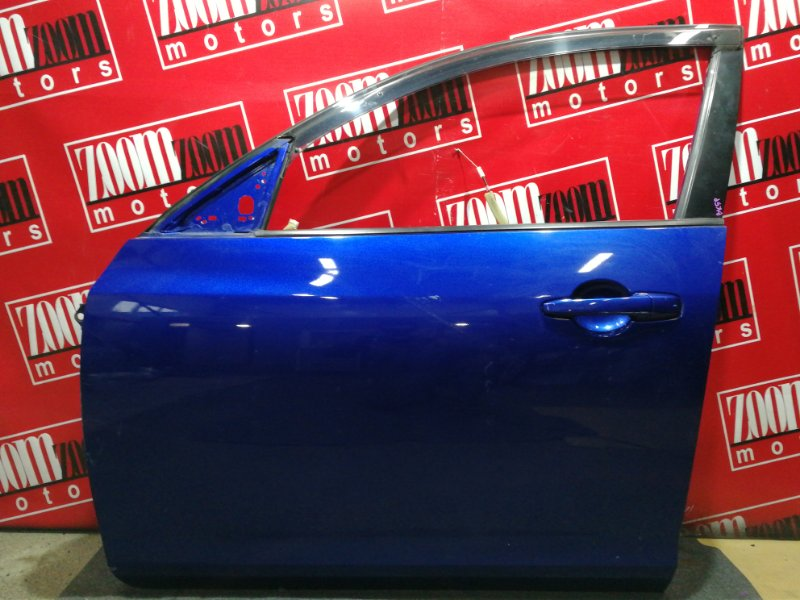 Дверь боковая Mazda Axela BK5P ZY-VE 2003 передняя левая синий