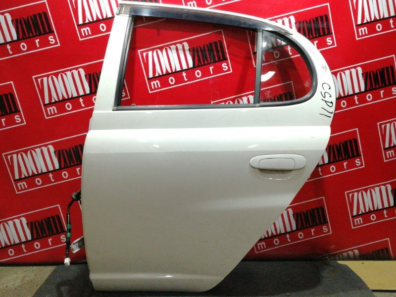 Дверь боковая Toyota Platz NCP12 1NZ-FE 1999 задняя левая белый