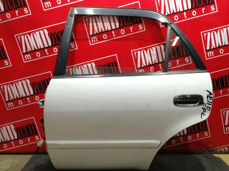 Дверь боковая Toyota Corolla AE110 5A-FE 1995 задняя левая белый