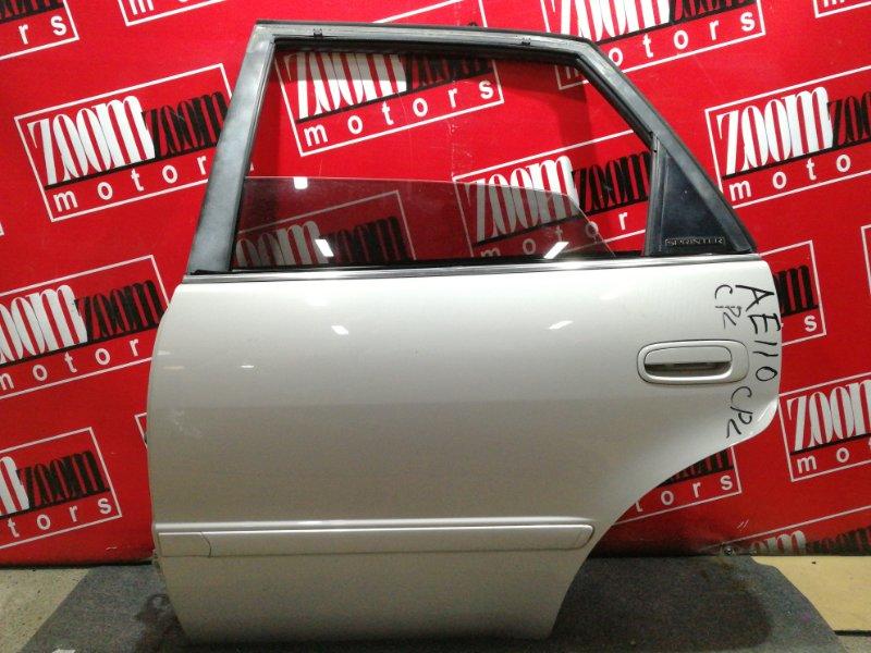 Дверь боковая Toyota Sprinter AE110 5A-FE 1995 задняя левая бежевый