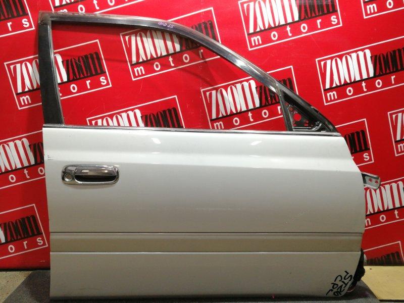Дверь боковая Toyota Corona Premio AT211 7A-FE 1996 передняя правая бежевый