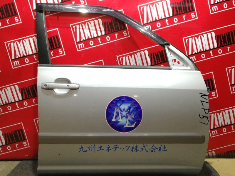 Дверь боковая Toyota Probox NCP58G 1NZ-FE 2002 передняя правая серебро