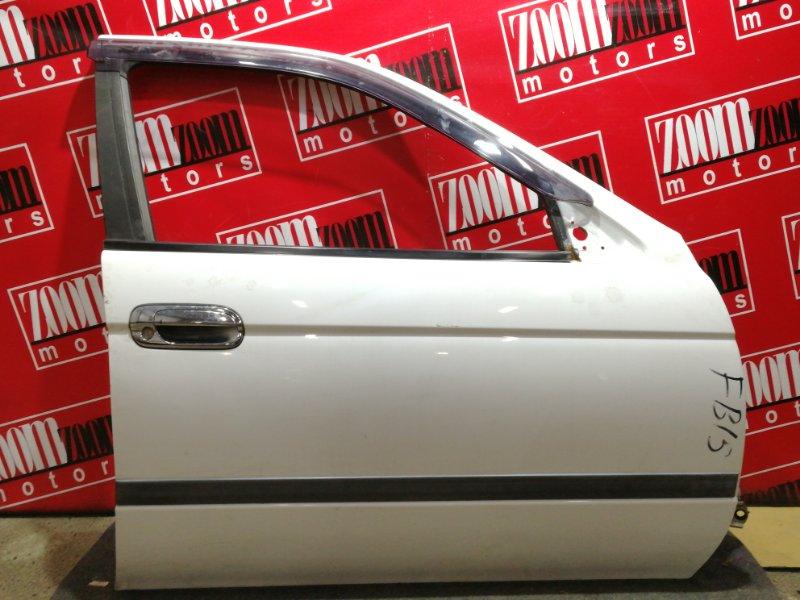 Дверь боковая Nissan Sunny FB15 QG15DE 1998 передняя правая белый