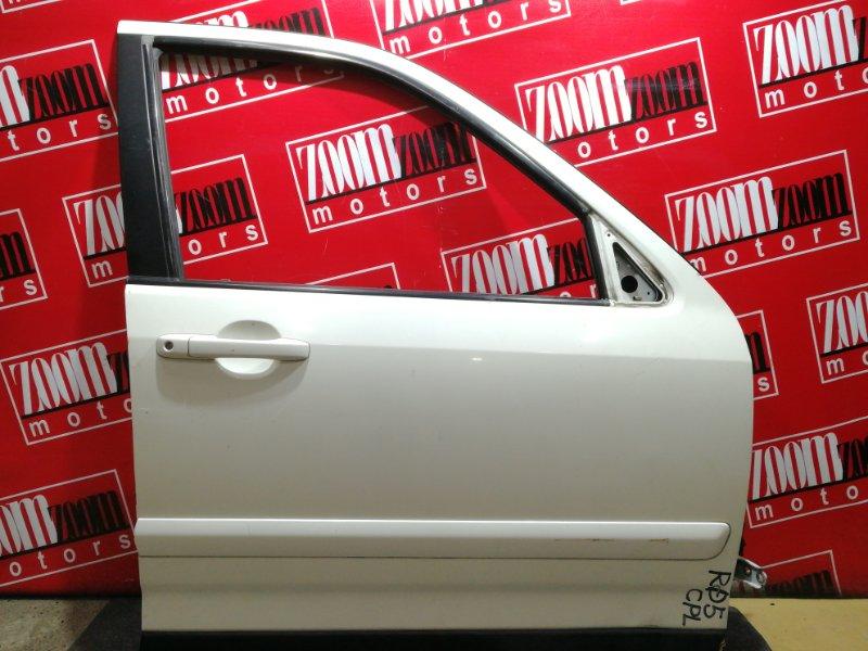 Дверь боковая Honda Cr-V RD5 K20A 2001 передняя правая белый перламутр