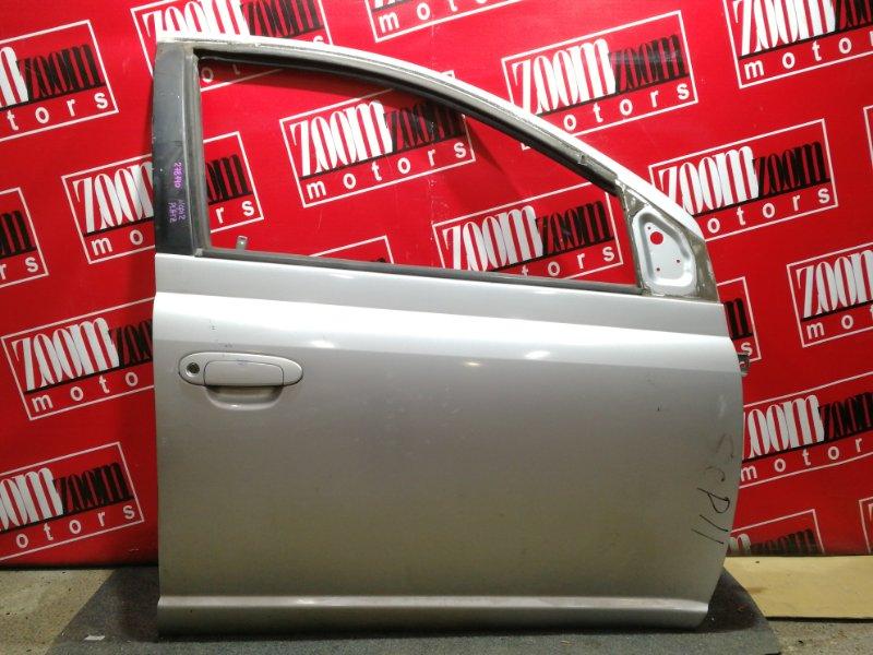 Дверь боковая Toyota Platz NCP12 1NZ-FE 1999 передняя правая серебро
