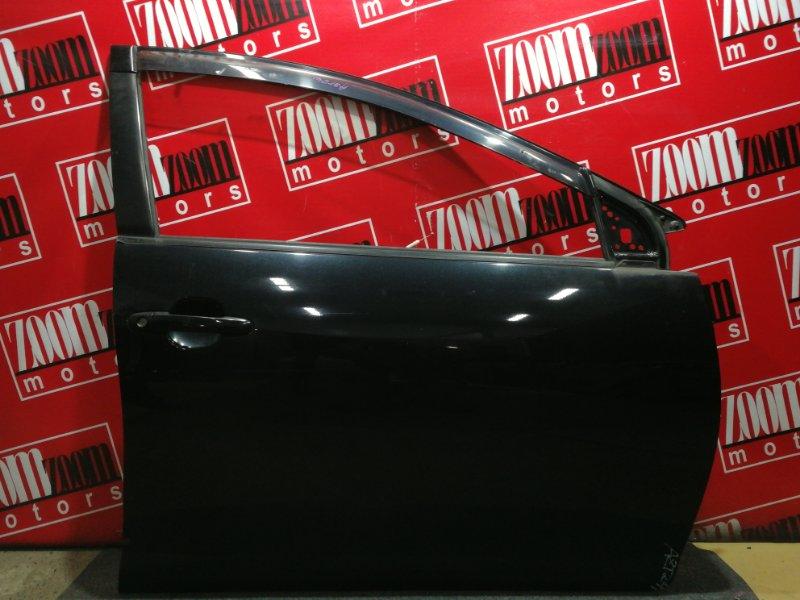 Дверь боковая Toyota Caldina AZT241W 1AZ-FSE 2002 передняя правая черный