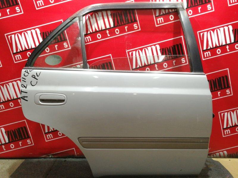 Дверь боковая Toyota Corona Premio AT211 7A-FE 1996 задняя правая серебро