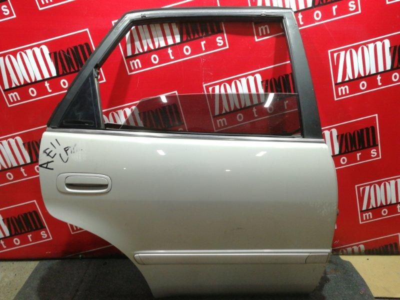 Дверь боковая Toyota Sprinter AE110 5A-FE 1995 задняя правая бежевый