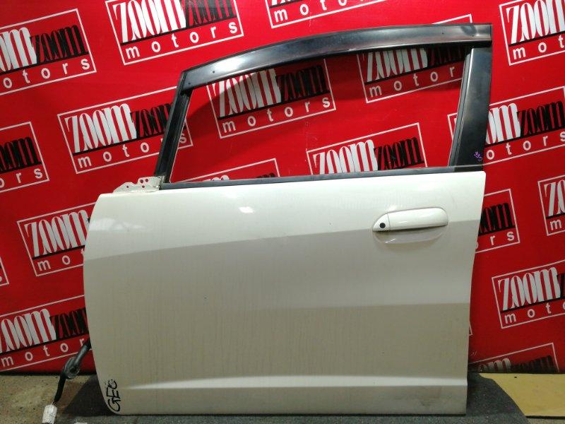 Дверь боковая Honda Fit GE6 L13A 2007 передняя левая белый перламутр