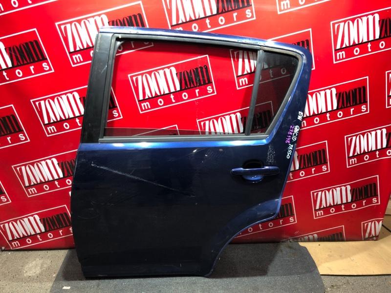 Дверь боковая Toyota Passo QNC10 K3-VE 2004 задняя левая синий