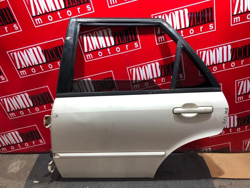 Дверь боковая Honda Accord Wagon CF6 F23A 1997 задняя левая белый перламутр
