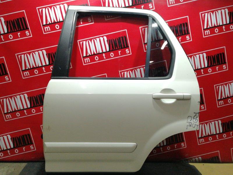 Дверь боковая Honda Cr-V RD5 K20A 2001 задняя левая белый перламутр
