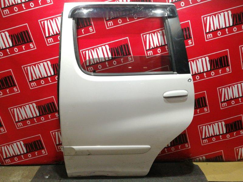 Дверь боковая Toyota Funcargo NCP20 2NZ-FE 1999 задняя левая белый перламутр