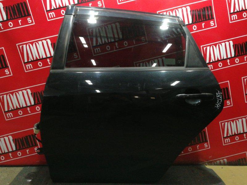 Дверь боковая Toyota Caldina AZT241W 1AZ-FSE 2002 задняя левая черный