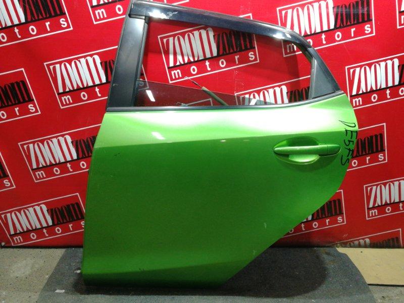 Дверь боковая Mazda Demio DE3FS ZJ-VE 2007 задняя левая зеленый