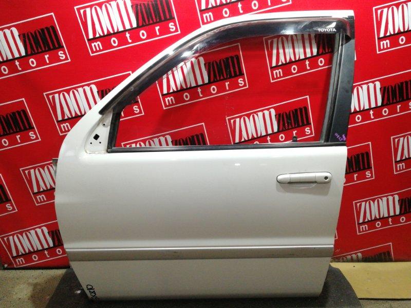 Дверь боковая Toyota Raum EXZ10 5E-FE 1997 передняя левая белый перламутр