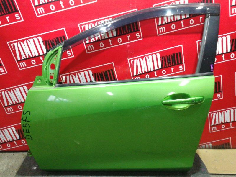 Дверь боковая Mazda Demio DE3FS ZJ-VE 2007 передняя левая зеленый