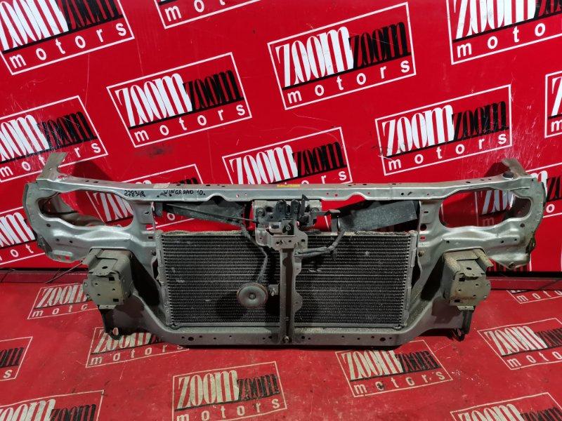 Рамка радиатора Nissan Wingroad WFY10 GA15DE 1996 передняя серебро