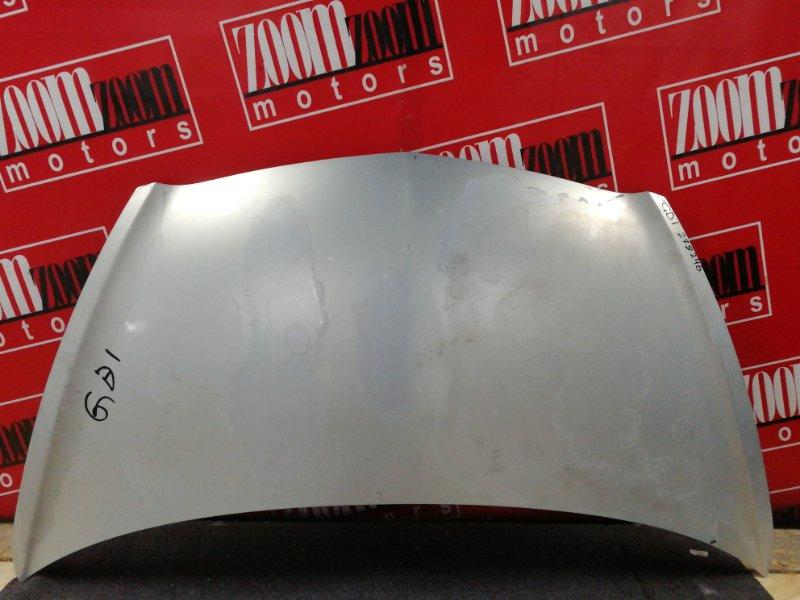 Капот Honda Fit GD1 L13A 2001 серебро