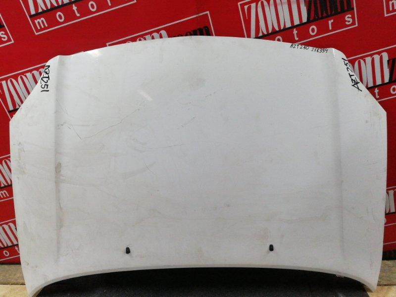 Капот Toyota Avensis AZT250 1AZ-FSE 2002 белый
