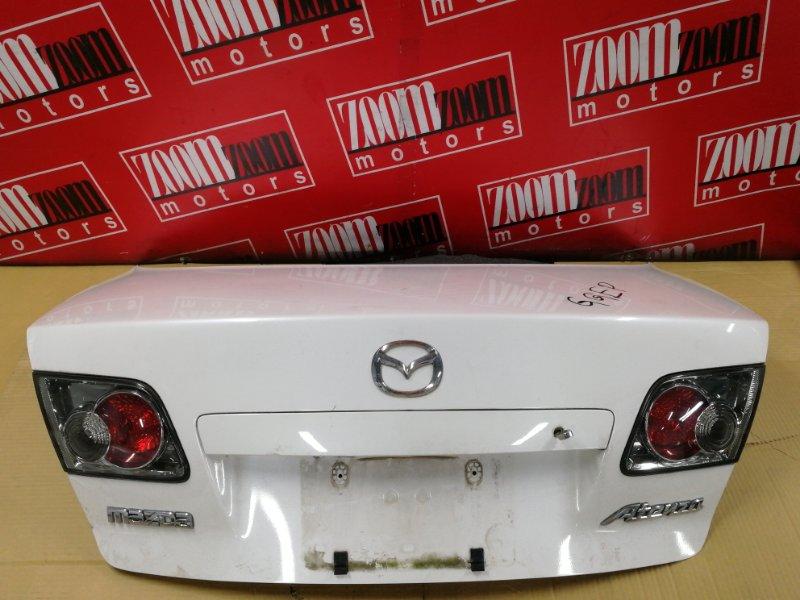Крышка багажника Mazda Atenza GGEP L3-DE 2002 задняя белый перламутр