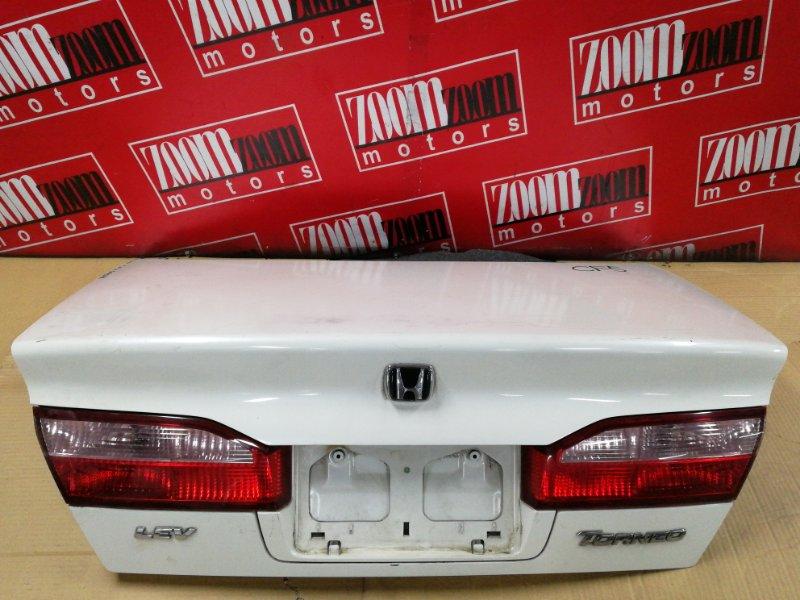 Крышка багажника Honda Torneo CF4 F20B 1997 задняя белый перламутр