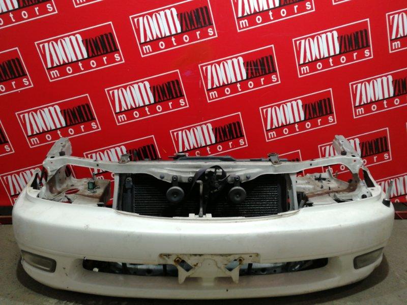 Бампер Toyota Caldina ST215G 3S-FE 2000 передний белый перламутр