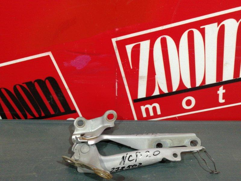 Кронштейн капота Toyota Funcargo NCP20 2NZ-FE 1999 серебро