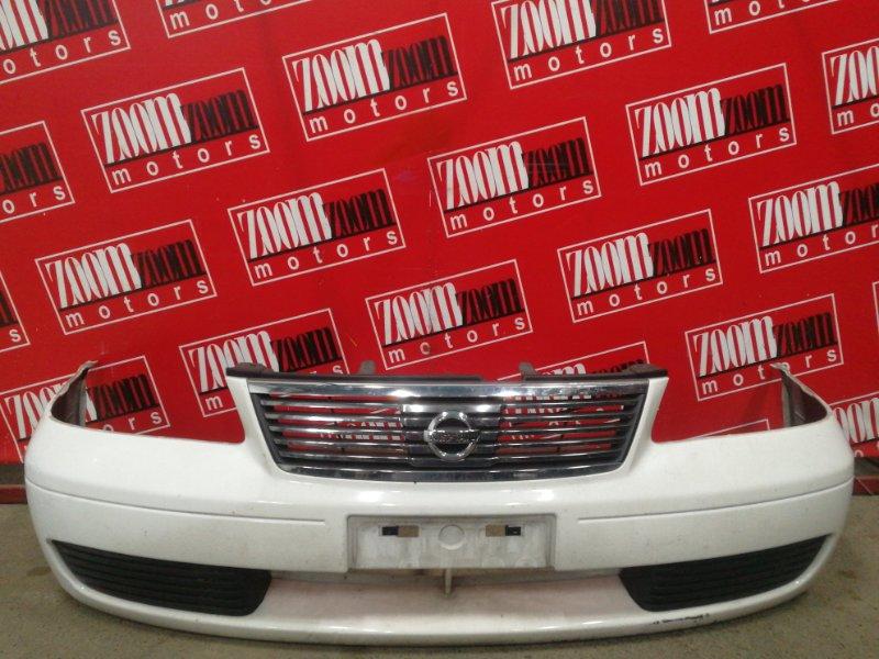 Бампер Nissan Sunny FB15 QG15DE 2003 белый