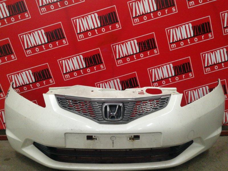 Бампер Honda Fit GE6 L13A 2007 передний белый перламутр